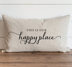 This Is Our Happy Place Pillow Cover. - Porter Lane Home