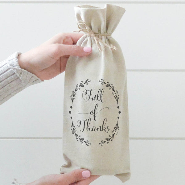 Full of Thanks Wine Bag - Porter Lane Home