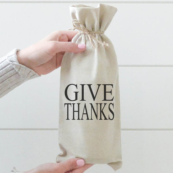 Give Thanks Wine Bag - Porter Lane Home