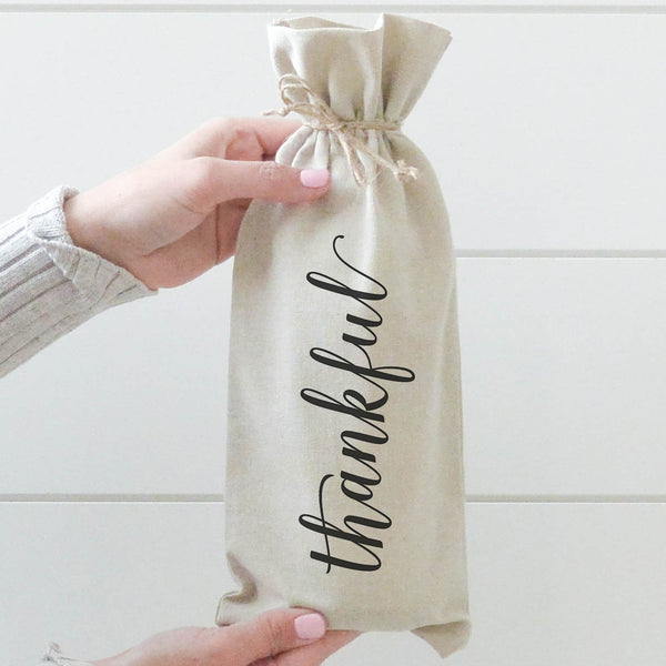 Thankful Wine Bag - Porter Lane Home