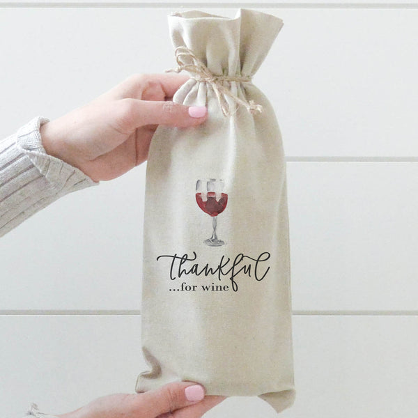 Thankful for Wine Wine Bag - Porter Lane Home