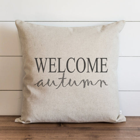 Welcome Autumn 20x20 Pillow Cover gift seasonal home decor