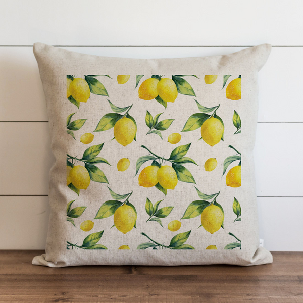 Lemon Background Pillow Cover. - Porter Lane Home