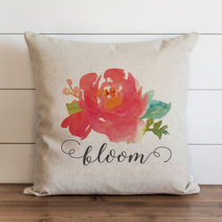 Watercolor Bloom Pillow Cover.