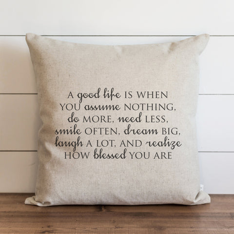 A Good Life Nashville pillow cover gift home decor