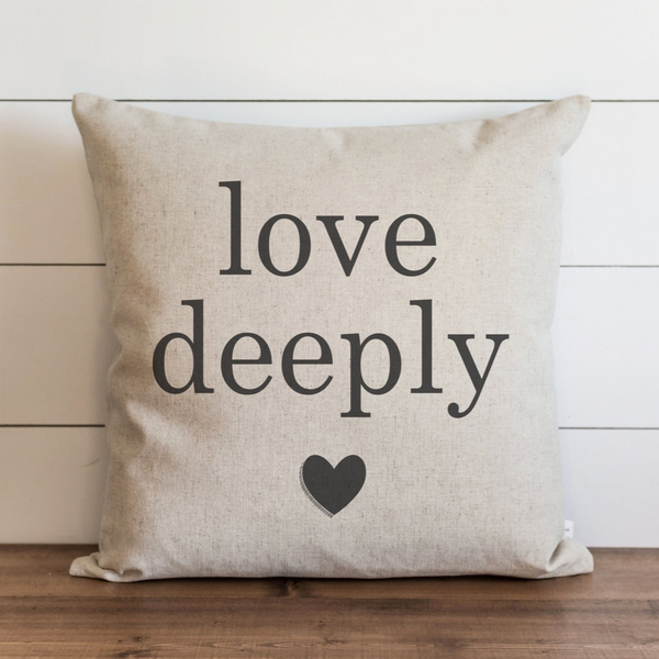 Love Deeply_Heart Pillow Cover. - Porter Lane Home
