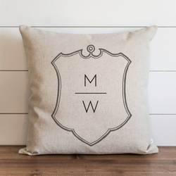 Personalized Family Crest_Initials Pillow Cover. - Porter Lane Home
