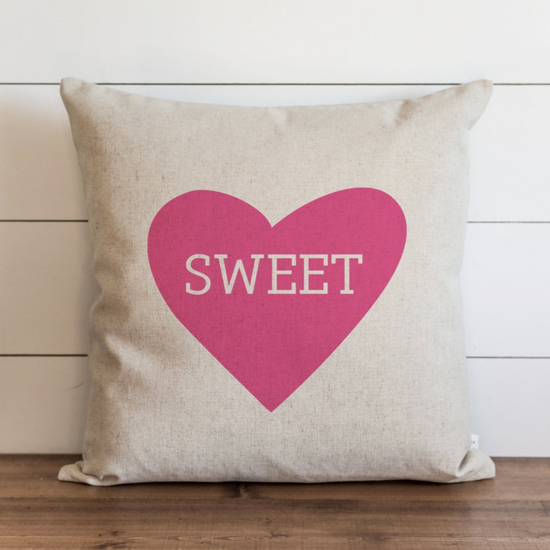 Sweet Pillow Cover {Pink Heart}. - Porter Lane Home