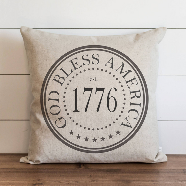 God Bless America 1776 Pillow Cover. - Porter Lane Home