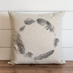 Feather Wreath Pillow Cover. - Porter Lane Home