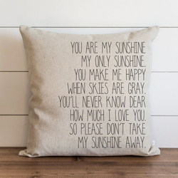 You Are My Sunshine Pillow Cover. - Porter Lane Home