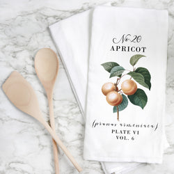 Botanical Apricot Tea Towel