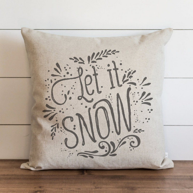 Let It Snow Pillow Cover. - Porter Lane Home