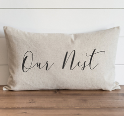 Our Nest Pillow Cover. - Porter Lane Home
