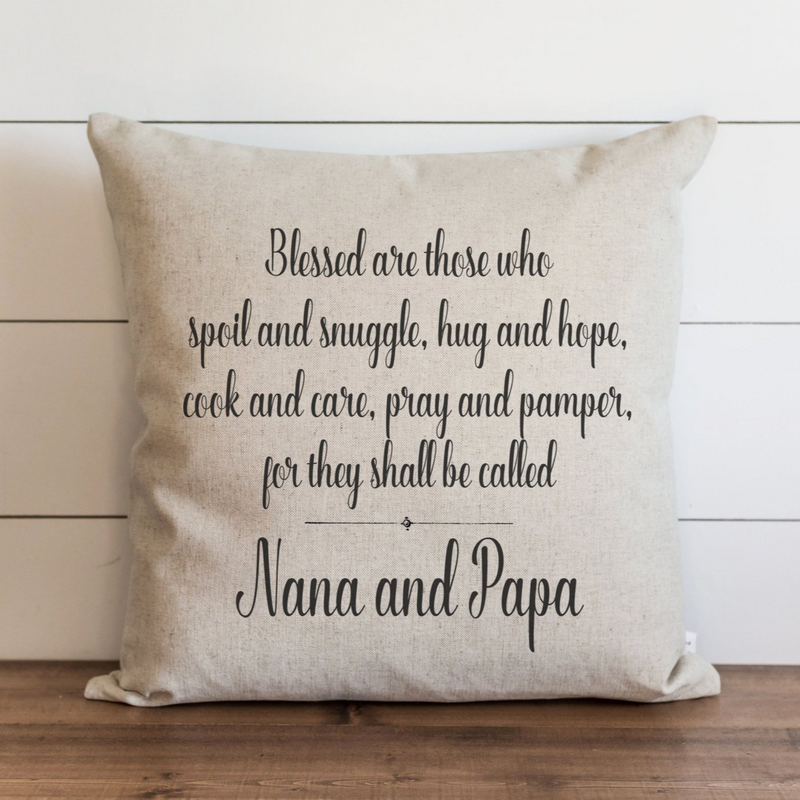 Custom Grandparents Pillow Cover | You choose the names to personalize. - Porter Lane Home