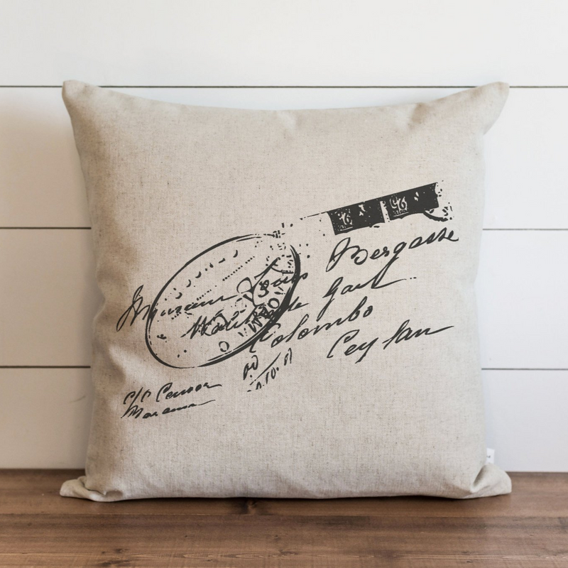 Stamp Pillow Cover. - Porter Lane Home
