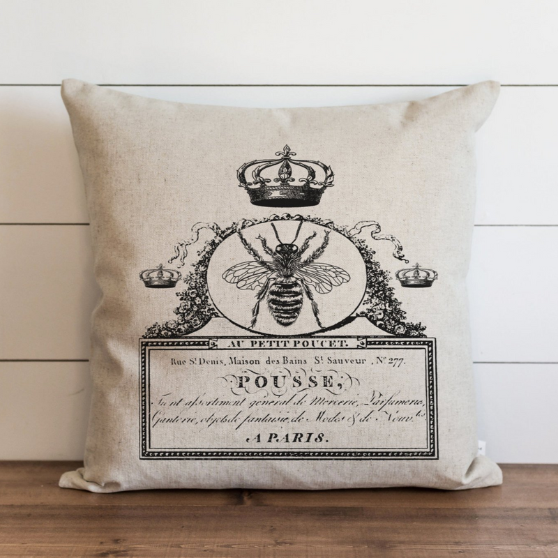 French Bee Pillow Cover. - Porter Lane Home
