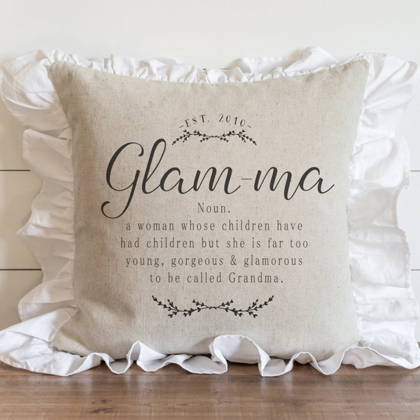 Ruffle Glamma Pillow Cover. - Porter Lane Home