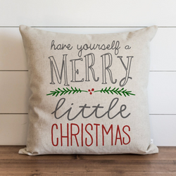 Have Yourself A Merry Little Christmas_Color Pillow Cover. - Porter Lane Home