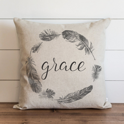 Grace Feather Wreath Pillow Cover. - Porter Lane Home