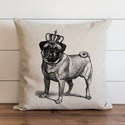 Queen Pug Pillow Cover. - Porter Lane Home