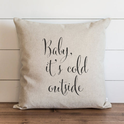 Baby its cold outside Christmas throw pillow cover 20x20 xmas