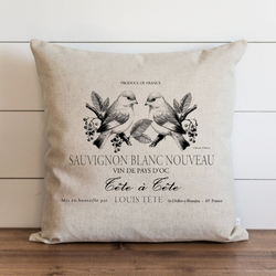 French Label Pillow Cover. - Porter Lane Home