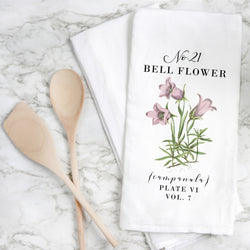 Botanical Bell Flower Tea Towel