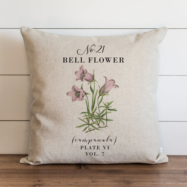 Botanical Bell Flower Pillow Cover. - Porter Lane Home