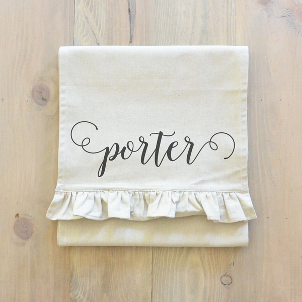 Scroll Last Name Table Runner