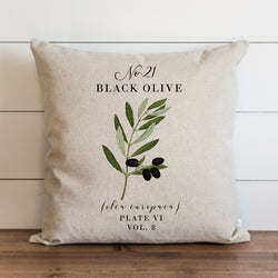 Botanical Black Olive Pillow Cover. - Porter Lane Home