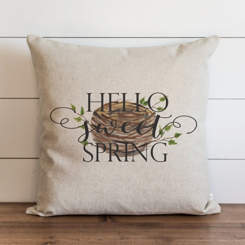 Hello Sweet Spring_Nest Pillow Cover. - Porter Lane Home