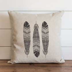 Feathers_3 Pillow Cover. - Porter Lane Home