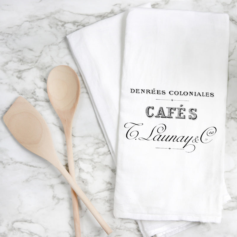 Cafes Tea Towel