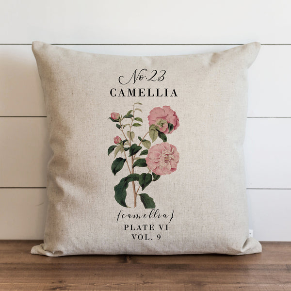 Botanical Camellia Pillow Cover. - Porter Lane Home