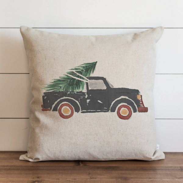 Slate Truck Pillow Cover. - Porter Lane Home