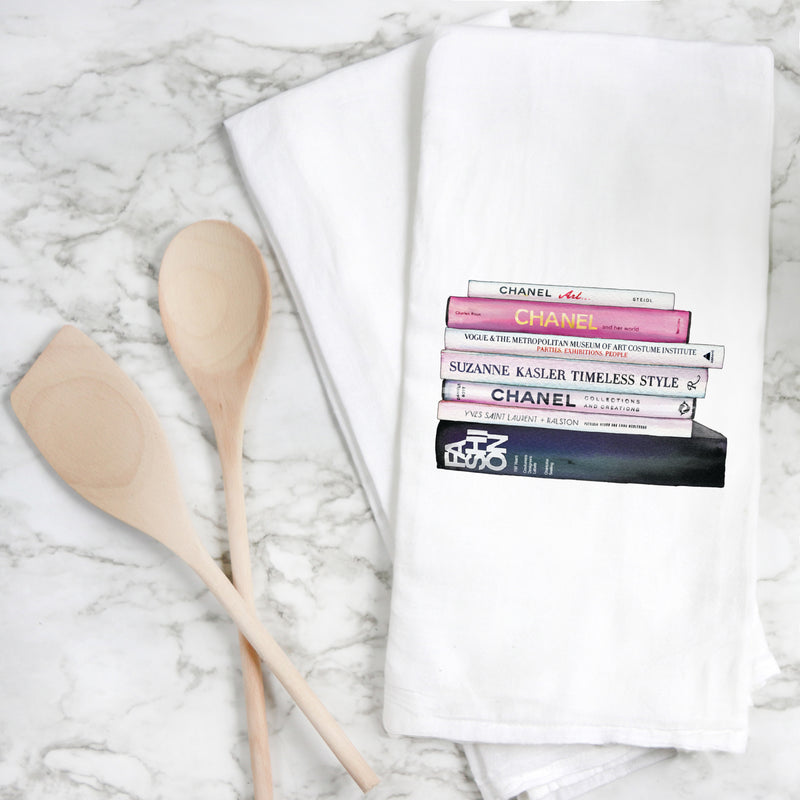 Designer Inspired Book Tea Towel