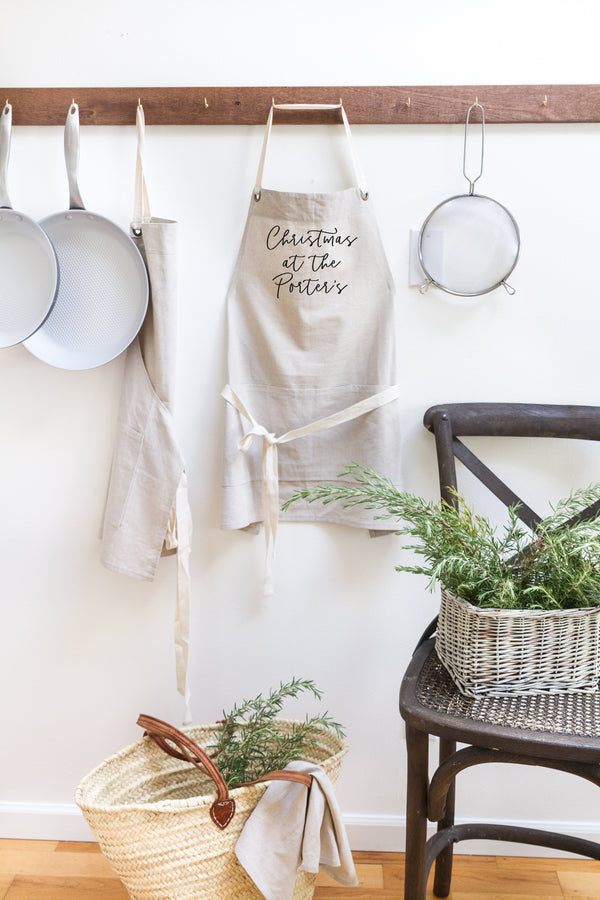 Personalized Christmas at the {Last Name} Apron - Porter Lane Home