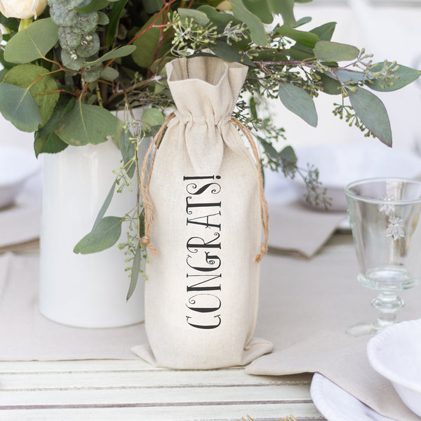 Congrats {Style 2} Wine Bag - Porter Lane Home