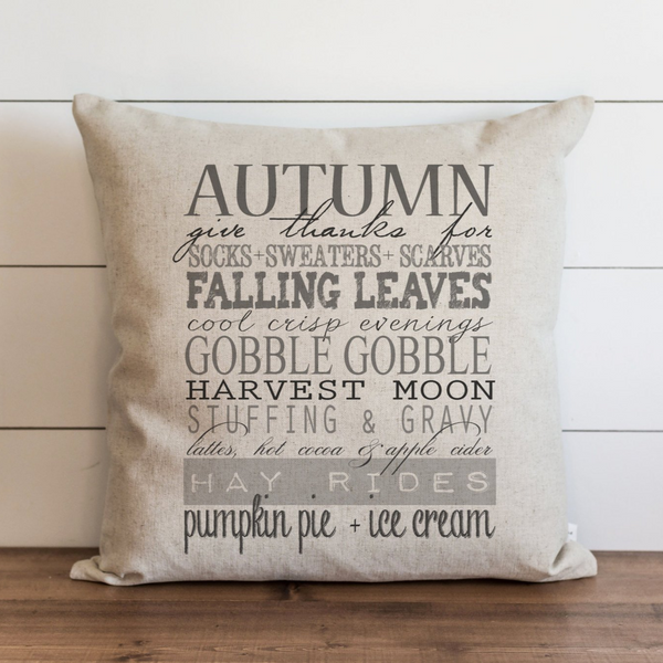 Autumn Words Pillow Cover. - Porter Lane Home