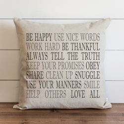 Be Happy Pillow Cover. - Porter Lane Home