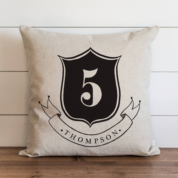 Family Crest_Last Name Pillow Cover. - Porter Lane Home