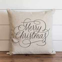 Merry Christmas Script Pillow Cover. - Porter Lane Home