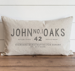 Vintage Collection_Custom Name_John No.1 Oaks Pillow Cover.