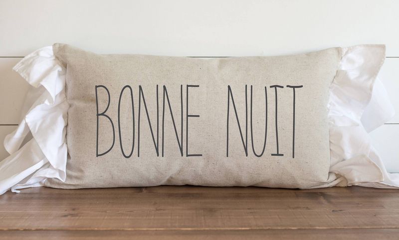 Bonne Nuit Pillow Cover. - Porter Lane Home