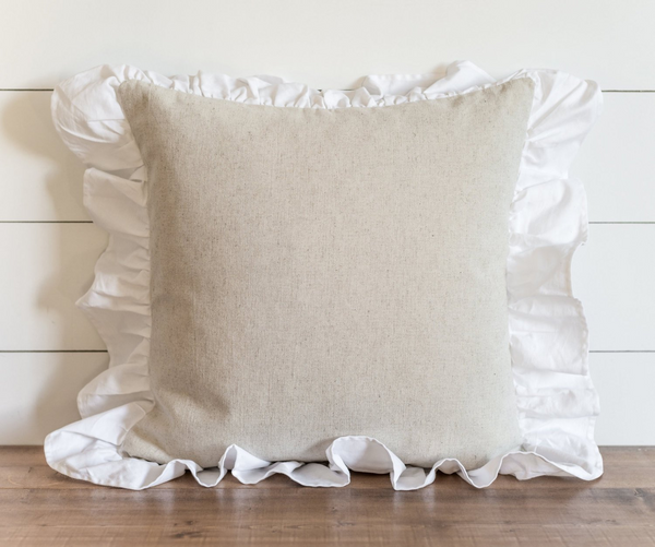 Ruffle Pillow Cover. - Porter Lane Home