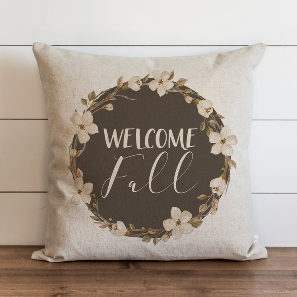 Fall Wreath_ Welcome Fall Pillow Cover. - Porter Lane Home