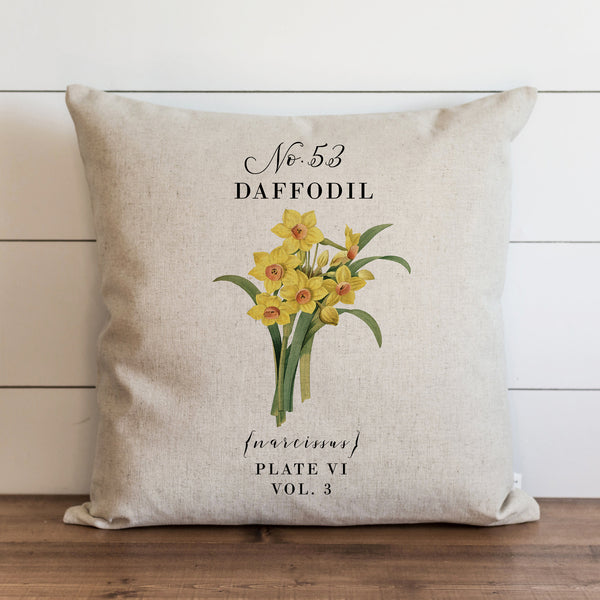 Botanical Daffodil Pillow Cover. - Porter Lane Home