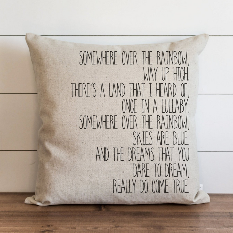 Somewhere Over The Rainbow Pillow Cover. - Porter Lane Home