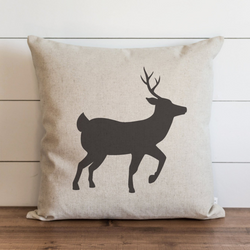 Reindeer Silhouette Pillow Cover. - Porter Lane Home